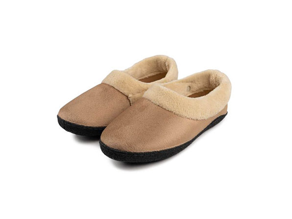 Rechargeable Heated Slippers (Large-XL/Tan)