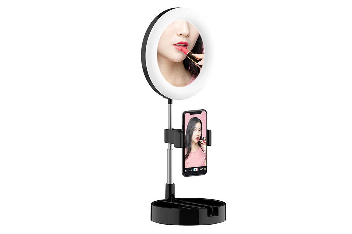 An LED Selfie Mirror