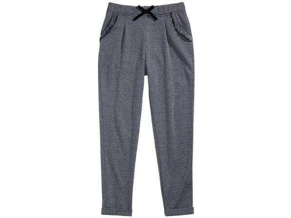 Epic Threads Big Girls Plaid Carrot Pants Grey Size Medium
