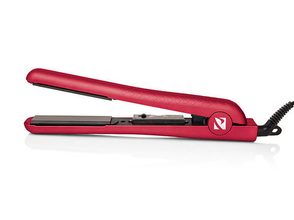 Soft Touch Diamond Infusion Straightener w/ Ceramic Plates - Red - Product Image