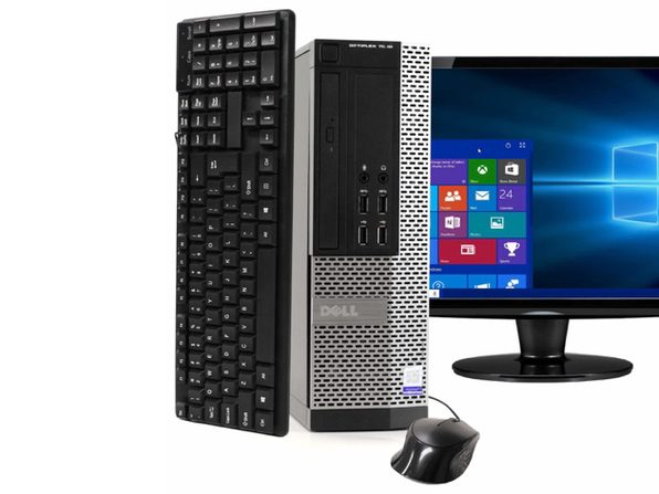 "Dell OptiPlex 7020 Desktop PC, 3.2GHz Intel i5 Dual Core Gen 4, 16GB RAM, 2TB SATA HD, Windows 10 Home 64 bit, 22"" Screen (Renewed)"