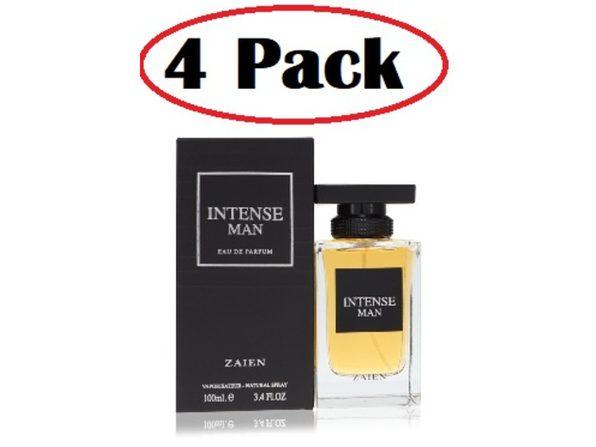 4 Pack of Zaien Intense Man by Zaien Eau De Parfum Spray 3.4 oz - Product Image