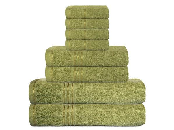 Hurbane Home 8-Piece Bath Towel Set Green - Product Image