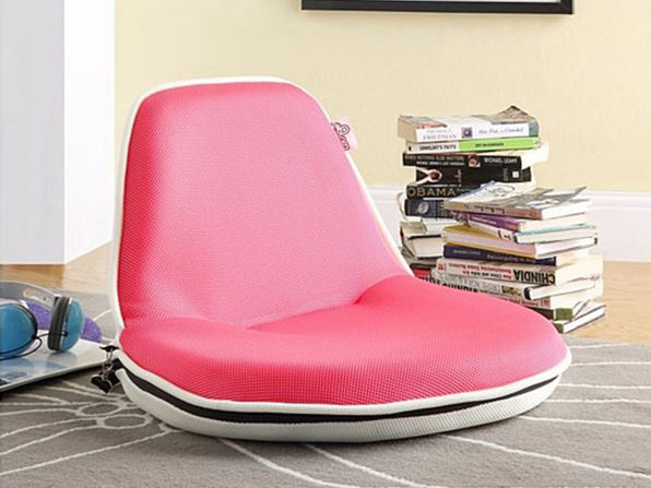 Loungie Quickchair Mesh Floor Chair  - pink/white - Product Image