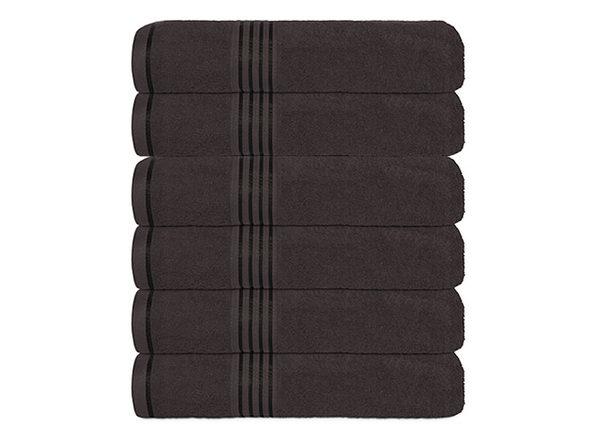 Hurbane Home 6 Piece Hand Towel Set Gray - Product Image