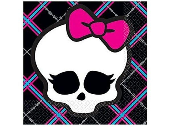 Napkins - Monster High - Small - Paper - 2Ply - 16ct - 10 X 10 in