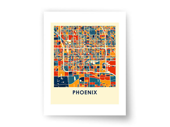 Phoenix Prussian Color Map Print