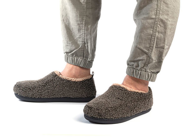 Men's Nomad Slippers with Memory Foam (Mocha, Size 11-12)