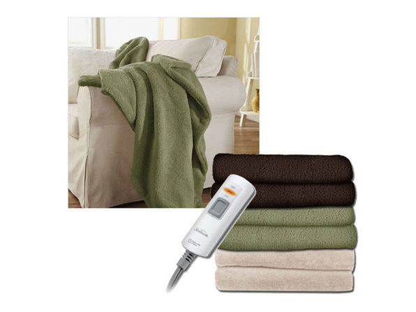Sunbeam LoftTec Ultra-Soft Heated Electric Throw Blanket DC-11 Assorted Colors - Walnut