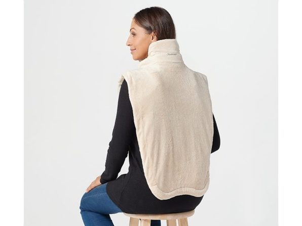 Sunbeam 2091105 Renue Extended Neck XXL Heat Wrap with Massage, Taupe - Product Image