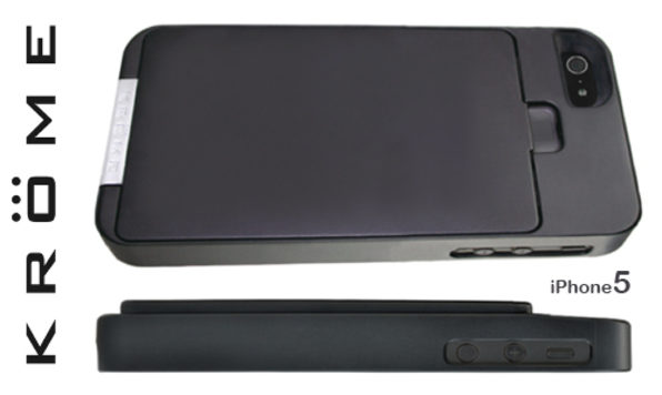 CargoCase (Black) 5-Card Carrier with Mirror for iPhone 5 - Product Image