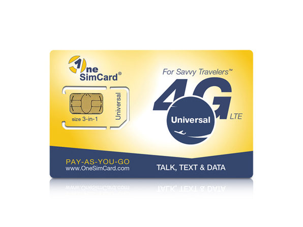 OneSimCard Universal with $5 Airtime Balance - Product Image