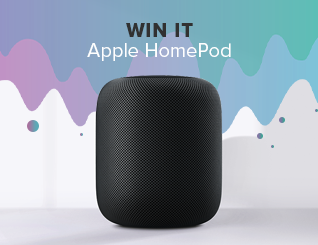 Giveaway homepod ad unit