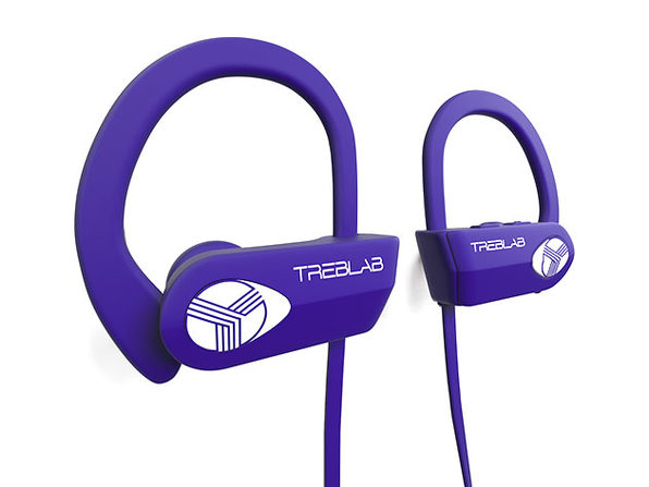 TREBLAB XR500 Wireless Sports Earbuds (Purple)