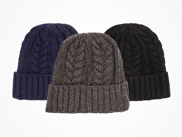 a29f9aa433cde Wool Cable Beanie