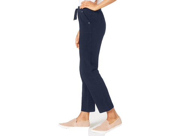 Karen Scott Women's French Terry Pants Navy Size Extra Small