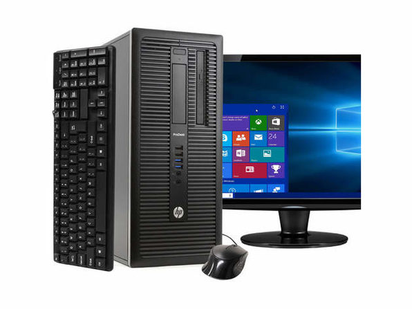 "HP ProDesk 600G1 Tower PC, 3.2GHz Intel i5 Quad Core Gen 4, 4GB RAM, 250GB SATA HD, Windows 10 Home 64 bit, 22"" Screen (Renewed)"