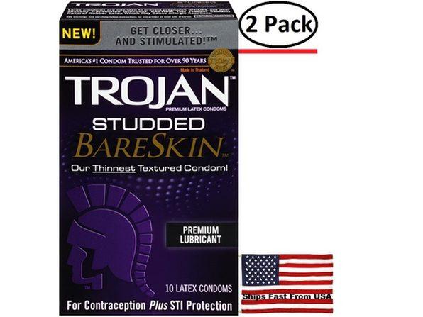 ( 2 Pack ) Trojan Studded Bareskin - 10 Pack - Product Image