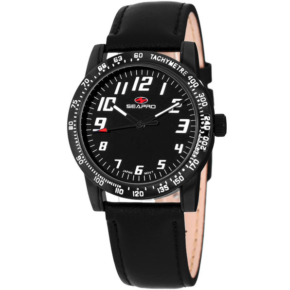 Seapro Women's Bold Black Dial Watch - SP5214