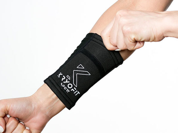 Cold Wrist/Ankle Compression Sleeves with Freeze Gel Inserts (Large)