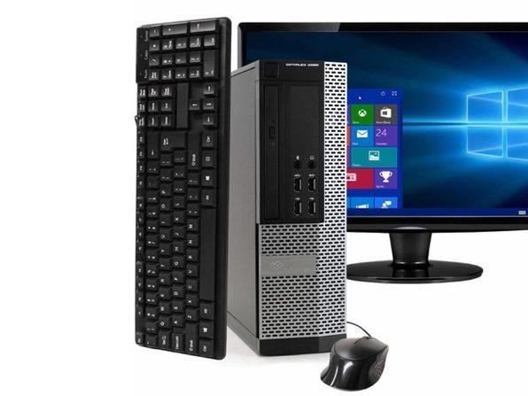 """Dell OptiPlex 9020 Desktop PC, 3.2 GHz Intel i5 Quad Core Gen 4, 16GB DDR3 RAM, 500GB SATA HD, Windows 10 Professional 64 bit, 22"""" Widescreen Screen (Renewed)"""