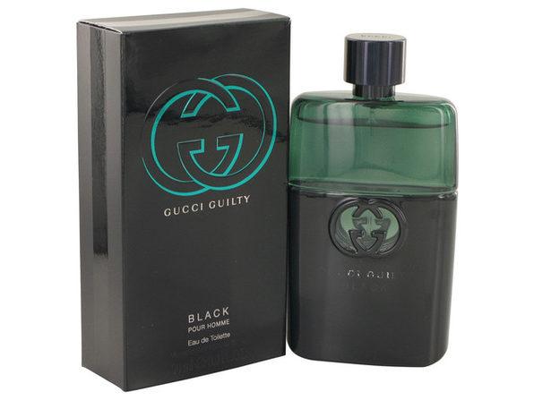 3 Pack Gucci Guilty Black by Gucci Eau De Toilette Spray 3 oz for Men - Product Image