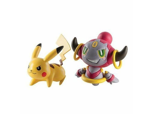 Pokemon 2 Pack Plastic Action Figures - Pikachu Vs Hoopa Confined