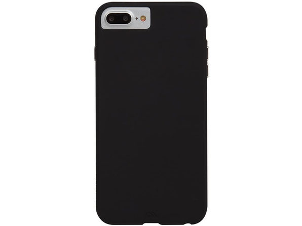 Case-Mate Apple Iphone 8 Plus/7 Plus/6s Plus/6 Plus Barely There Leather Case, Smooth Black