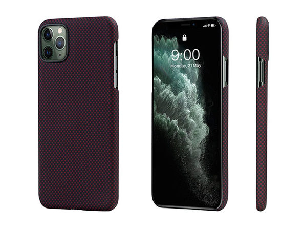 MagEZ Case for iPhone 11 Pro (Black/Red Plain)