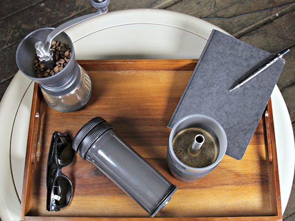 Pascal Press Coffee Mug and Portable Brewer