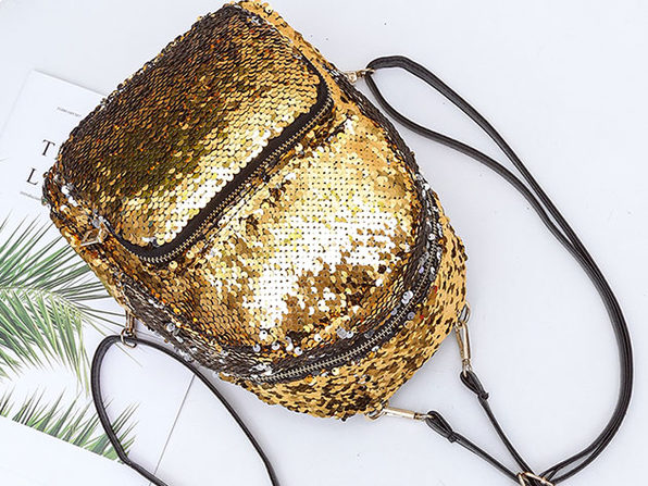 Sequin Mini Backpack (Gold)
