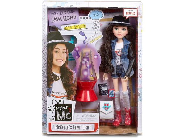 Project MC2 Experiment with Cool Outfit Doll, McKeyla's 5-inch Lava Light with LED