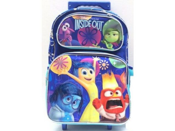 "Inside Out Large 16"" Cloth Rolling Backpack - Rainbow - Product Image"
