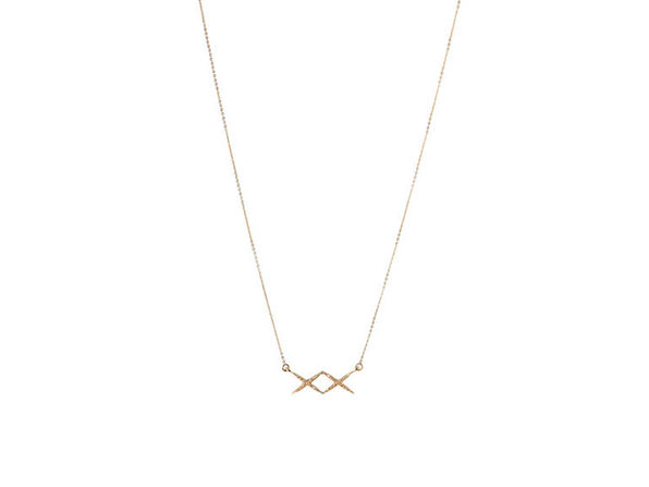 XX Necklace (Shiny Gold)
