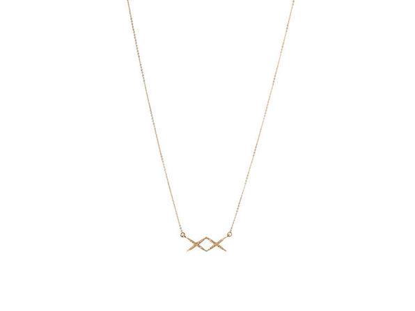XX Necklace (Shiny Gold)