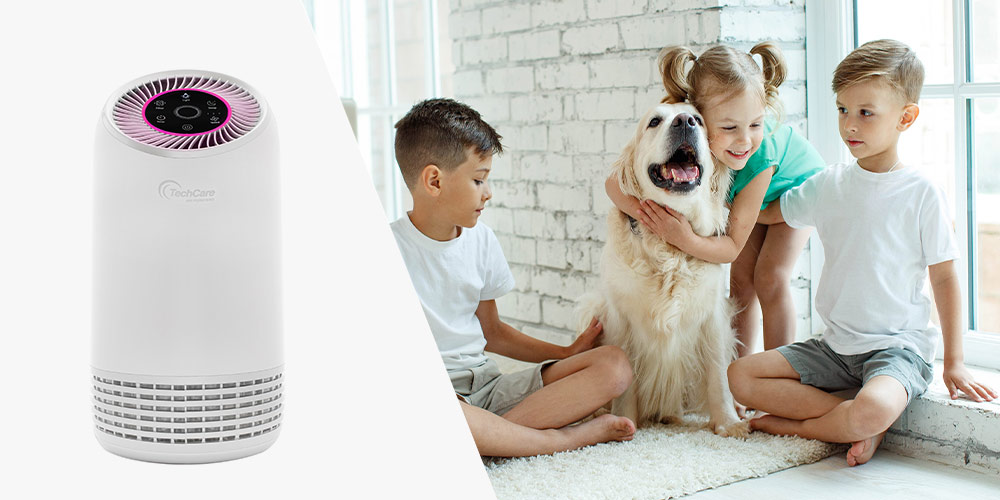 TechCare Smart Air Purifier with HEPA Filters + Silent Comfort, on sale for $85.98 (54% off)