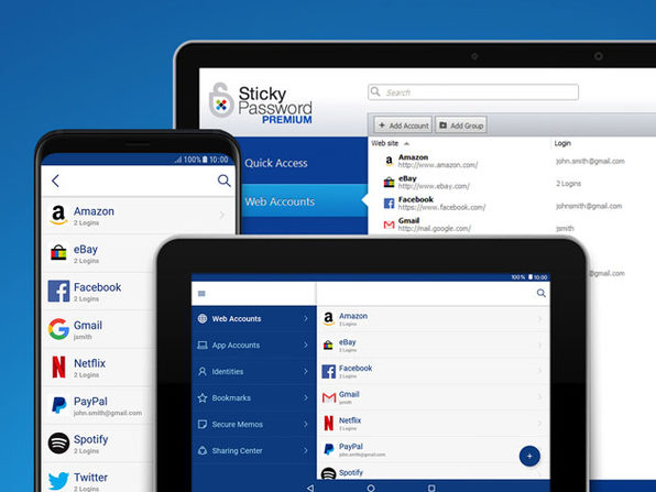 Sticky Password Premium: 5-Yr Team Subscription (3 Users)