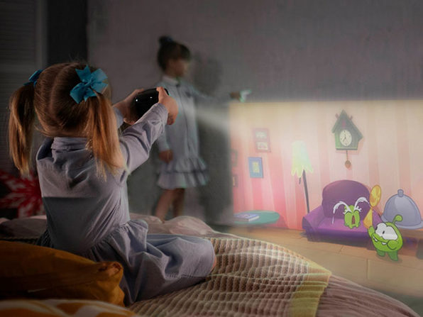 CINEMOOD 360 Bundle: First Interactive Projector with 360 Motion Capability Plus Free Cover