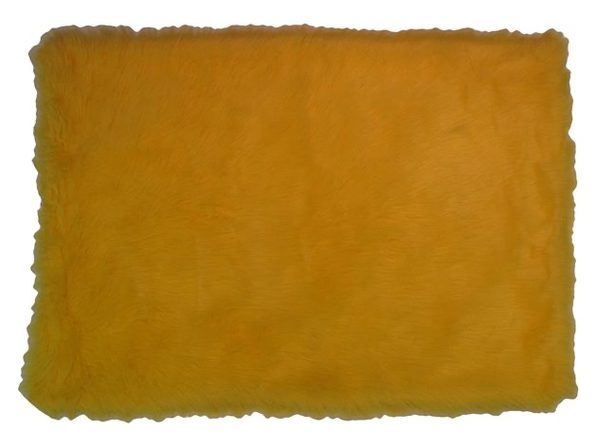 "LA RUG FLK-005 3147 Flokati Polypropylene Rectangle Rug, 19""x29"" - Yellow (Used, Open Retail Box)"