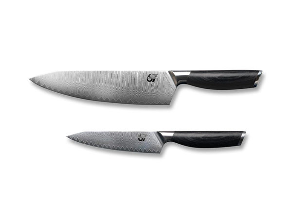 Pacific67 Essentials 2-Piece Knife Set (Black)