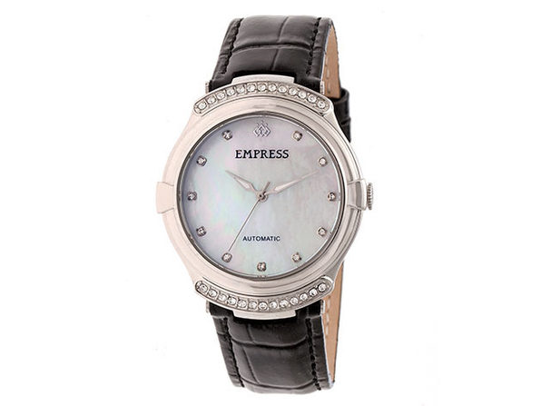 Empress Francesca Automatic Leather Watch