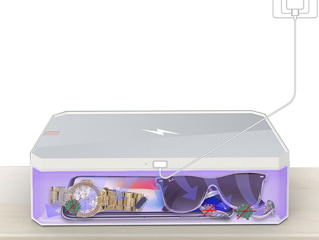 A UV-C sanitizing box