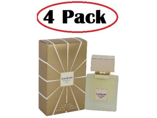 4 Pack of Bebe Nouveau Chic by Bebe Eau De Parfum Spray 1 oz - Product Image