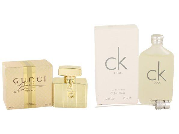 Gift set  Gucci Premiere by Gucci Eau De Parfum Spray 2.5 oz And  CK ONE EDT Pour/Spray (Unisex) 1.7 oz - Product Image