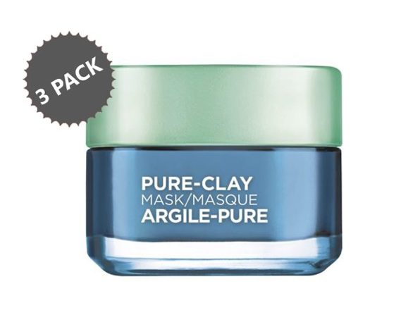 L'Oreal Paris Pure Clay Face Mask 3-Pack