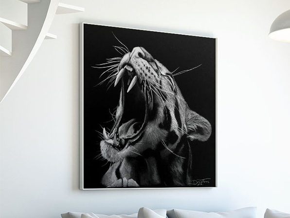 "Museum Mounted Canvas ""Inverted Tiger"" by Dino Tomic"