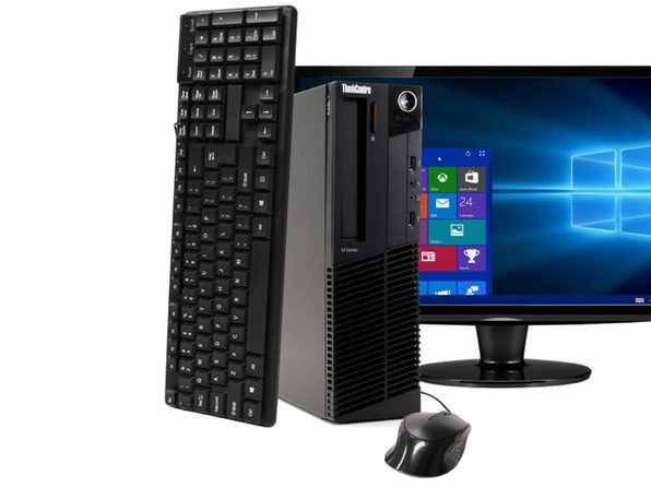 """Lenovo ThinkCentre M91 Desktop PC, 3.2 GHz Intel i5 Quad Core Gen 2, 16GB DDR3 RAM, 2TB SATA HD, Windows 10 Professional 64 bit, 22"""" Screen (Renewed)"""
