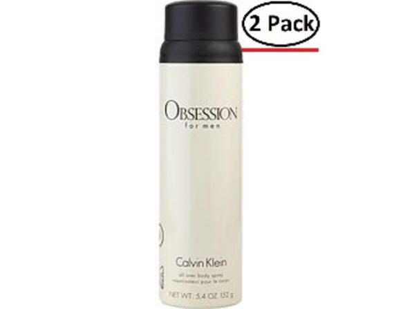OBSESSION by Calvin Klein BODY SPRAY 5.4 OZ for MEN ---(Package Of 2)