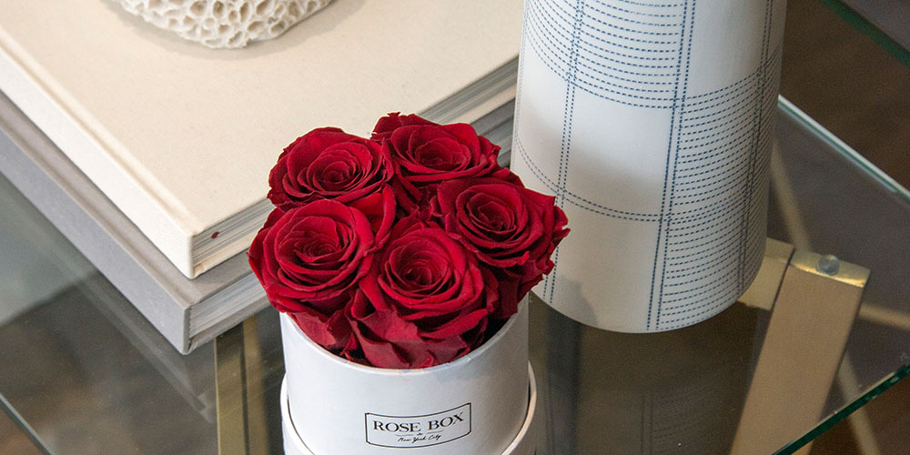 Mini White Boxes with Rose, on sale for $89.99 (reg. $109)