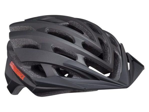 Diamondback Overdrive Mountain Bike Helmet, Large - Matte Black (New)